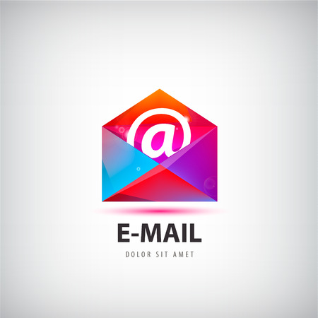 unread: Vector colorful mail  , icon. Envelope e-mail sign design Illustration