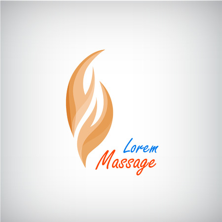 relax massage: Vector massage  , 2 hands silhouette icon, business concept. Spa beauty salon, relax Illustration