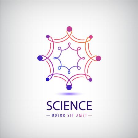 Vector abstract science  , laboratory, molecule structure icon