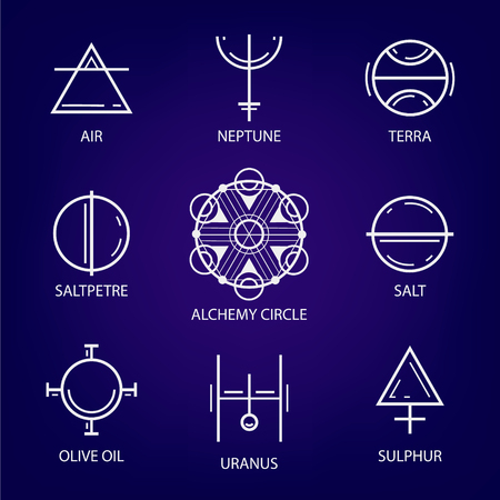 occultism: Big Set of geometric shapes. Trendy hipster icons and logos. Religion, philosophy, spirituality, occultism symbol collection