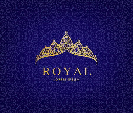 luxuries: Abstract luxury, royal golden company logo icon vector design.