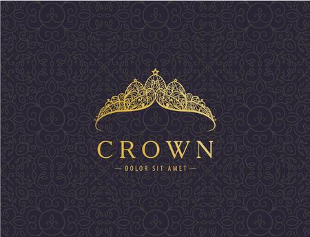 Abstract luxury, royal golden company logo icon vector design. Logo
