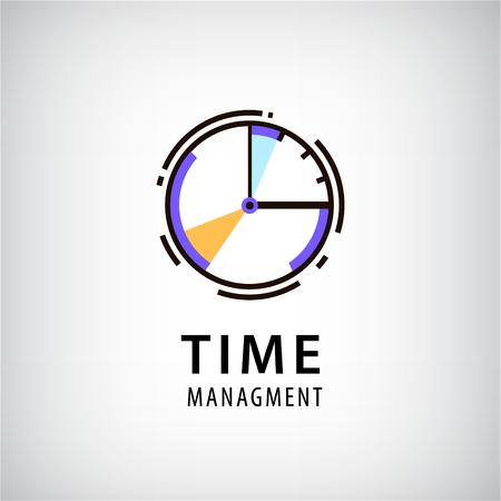 Vector time managment logo