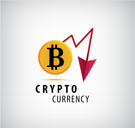 Vector crypto currency logo, icon. Illustration