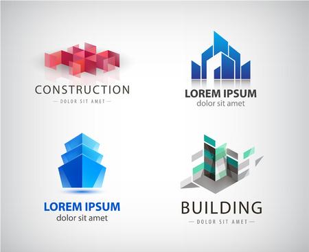 Vector Set off bilding logos, architecture structureReal Estate Logó