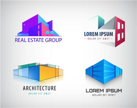 Vector set of Real Estate, Building and Construction