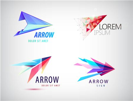 vector set of abstract arrow logos 일러스트