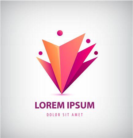 Logo de groupe d'hommes vectoriels