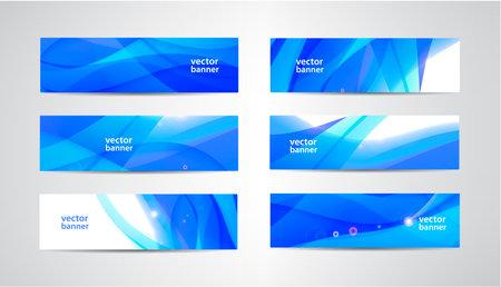 Vector abstract flow wavy banners set. Water, stream, energy stream horizontal backgrounds. Wave Liquid, transparent 版權商用圖片