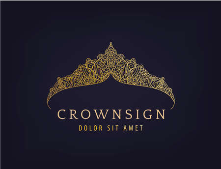 Abstract luxury, royal golden company  . icon vector design.