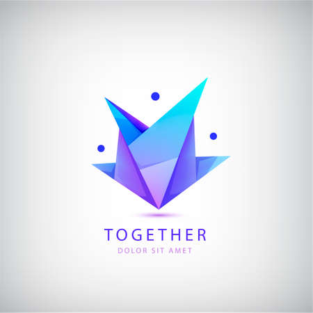 Vector  people group, family design. Child adoption  collection and charitable foundations, social relations, teamwork, friendship icon. 向量圖像
