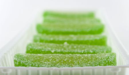 green candies in white box Stock Photo - 2426230