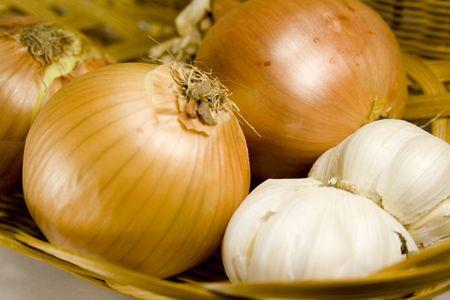 garlics: onions and garlics