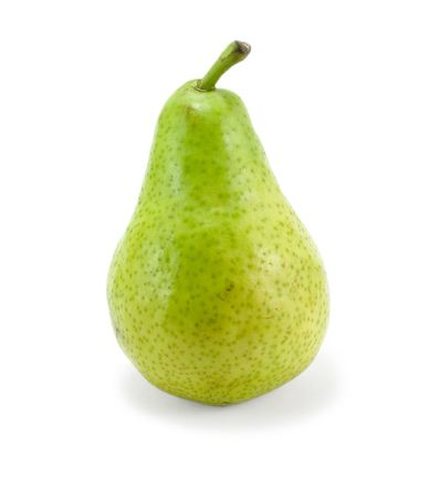 gree pear isolated over white photo