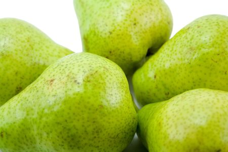 pears close-up isolated photo