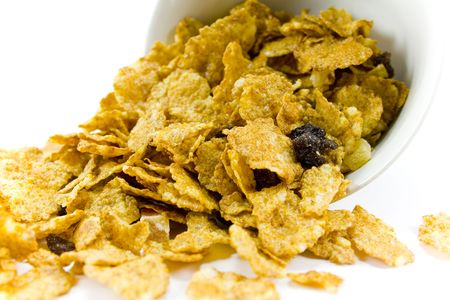 cornflakes from the white bowl Stock Photo - 2602445