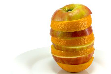 Fruit sandwich on white plate  photo
