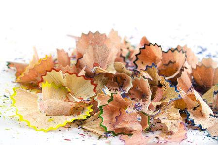 colourful pencils sawdust photo