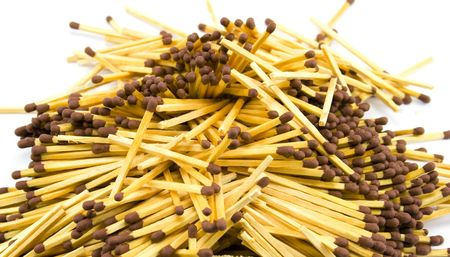a lot of matches close-up photo
