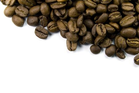 coffe beans close-up on white Stock Photo - 2996985