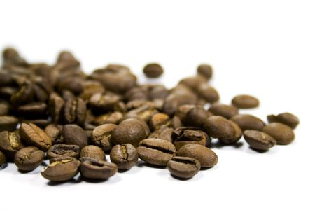 granos de cafe: Close-up de granos de caf�
