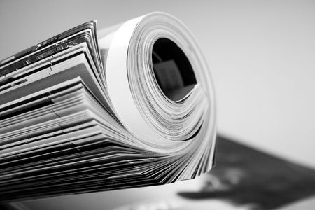 rolled up magazine Stock Photo - 3007852