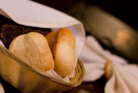 bread in a basket photo