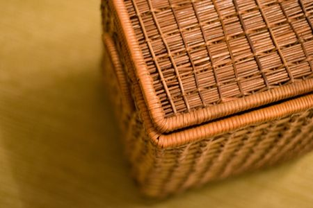 basket for linen basket on a floor Stock Photo - 3209671