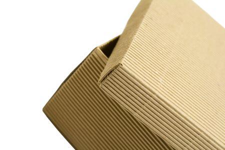 close up of opened box photo