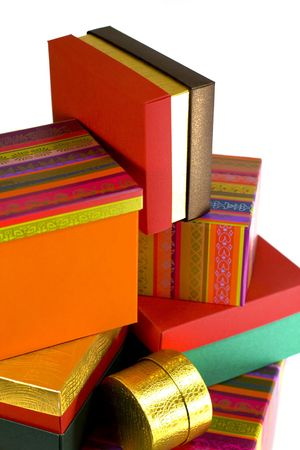 pile of different colorful gift boxes Stock Photo - 3373087