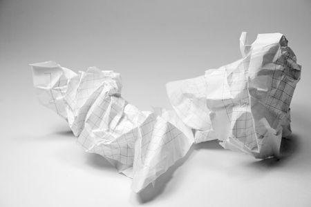 crumpled paper closeup photo