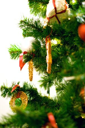 gingerbread cakes in the christmas tree photo