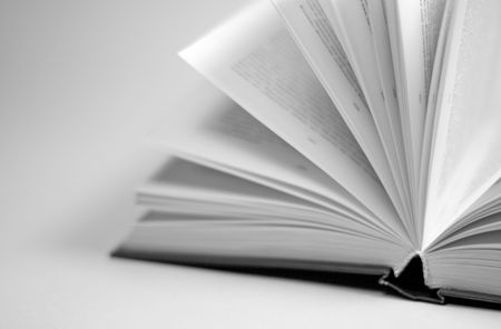 prose: closeup of opened book