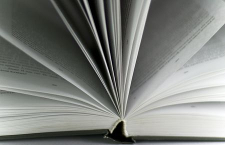 closeup of opened book photo