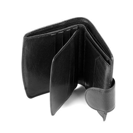 empty purse isolated on white background photo