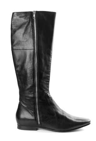 black woman boot isolated on white background photo
