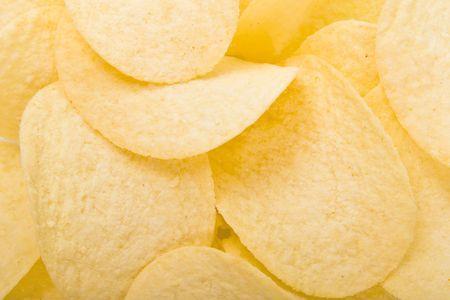 grasas saturadas: papas fritas de fondo Foto de archivo