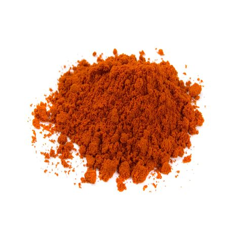 pile of red pepper powder isolated on white background Stock Photo - 4376920