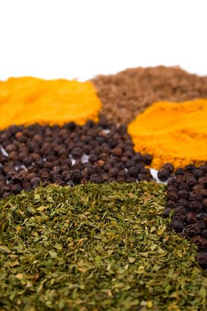 heapes of various spices closeup Stock Photo - 4388379