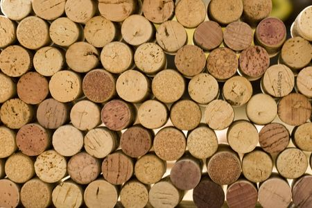 wine corks tops closeup background photo