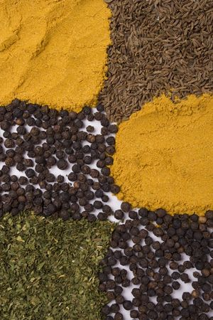 various spices background photo