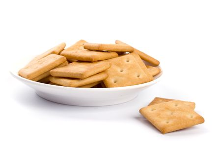 cookies on plate isolated on white backgrounds Stock Photo - 4456506