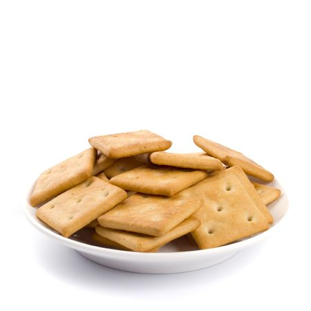 cookies on plate isolated on white backgrounds Stock Photo - 4456467