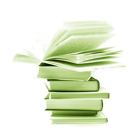 stack of books closeup. monochrome image Stock Photo - 4456468