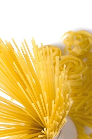 various shapes of pasta background photo