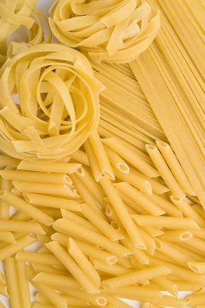 verschillende vormen van pasta achtergrond