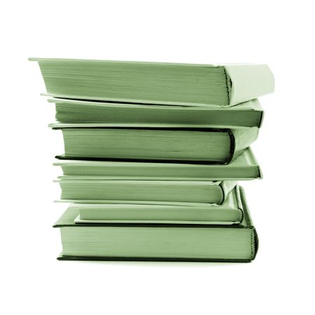stack of books isolated on white background Stock Photo - 4781000