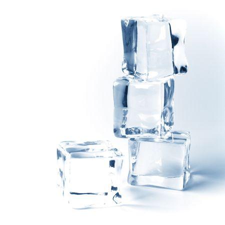 toned imge of four ice cubes photo