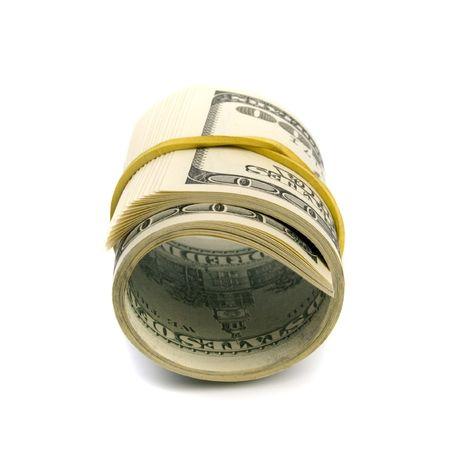 dollar tube on white background Stock Photo - 4951955