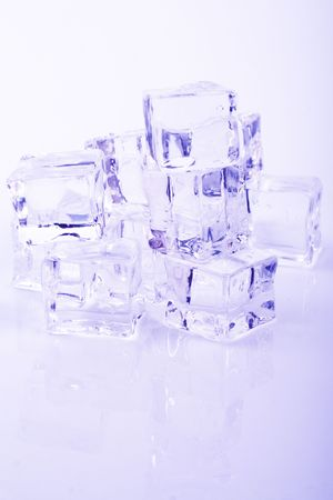 stack of ice cubes  photo